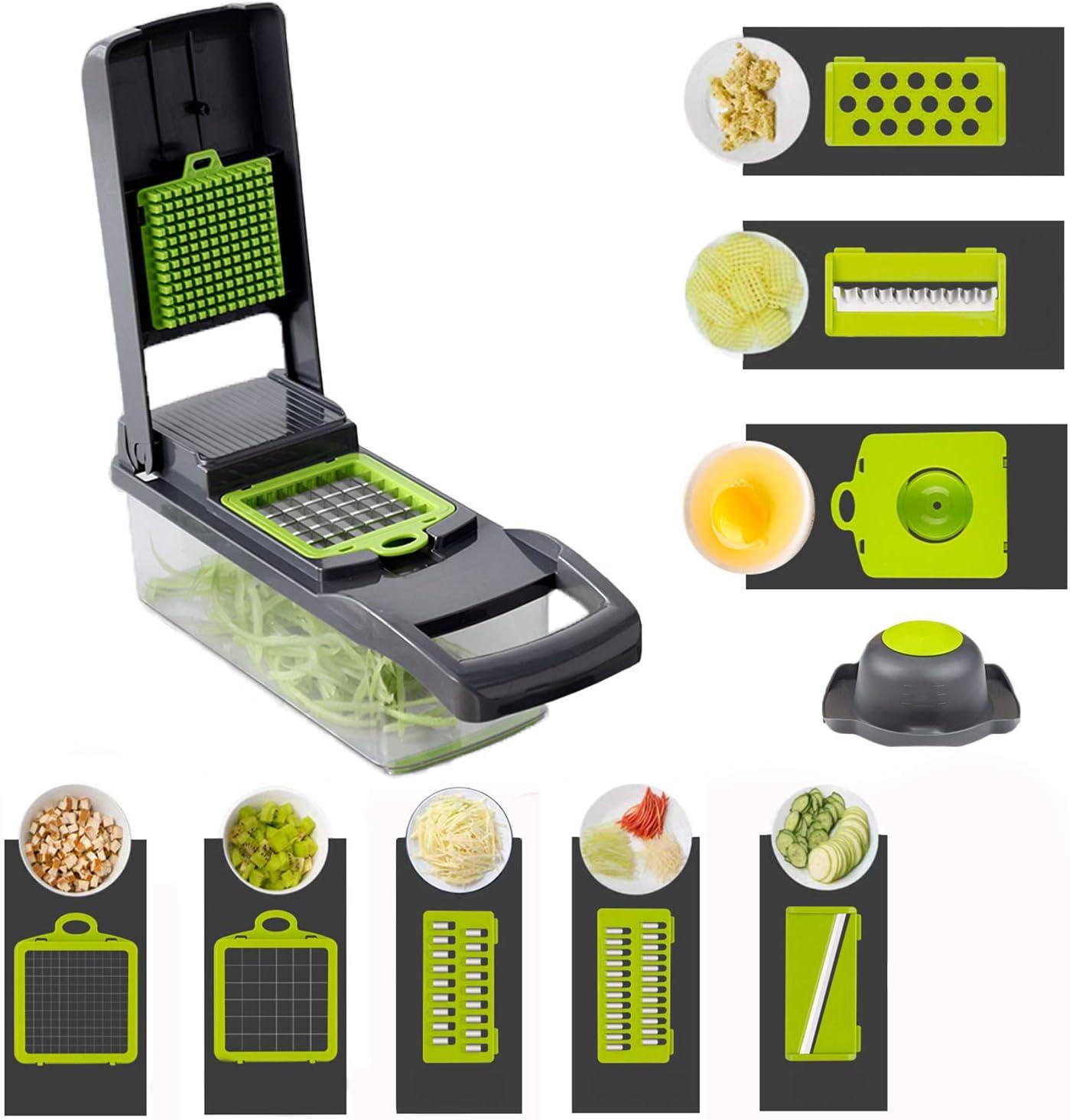 Onion Vegetable Chopper Slicer Halcyon - Smart Mandoline Slicer Cutter - Food Chopper for Veggie Potato Tomato