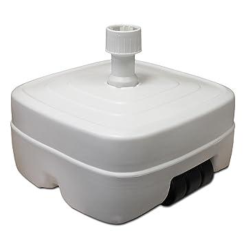 Soporte para sombrilla, 45 L, se puede rellenar con arena y agua, con