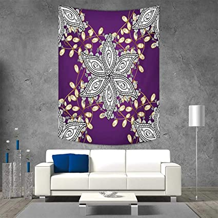 Smallbeefly Mauve Home Decorations Living Room Bedroom Vintage Oriental Display Moroccan Middle East Floral Petals Details