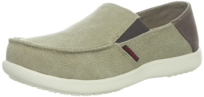 3057f4e02 Crocs Santa Cruz Canvas GS Boys Loafer in Brown  Buy Online at Low Prices  in India - Amazon.in