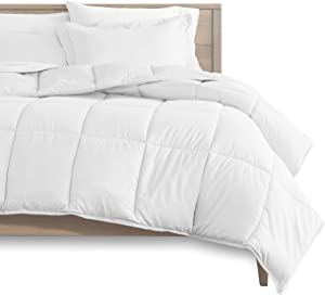 Bare Home Comforter Set - Full Size - Goose Down Alternative - Ultra-Soft - Premium 1800 Series - Hypoallergenic - All Season Breathable Warmth (Full, White)
