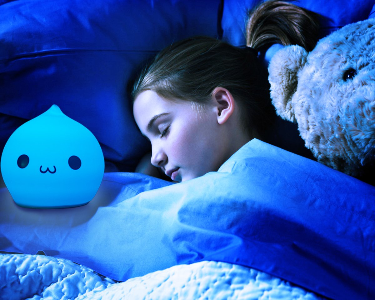 Silicone Children Night Light Cute Droper Sensitive Tap Control Light Multi-Color Soft Baby Kids LED Lamp Silicone USB Rechargeable Breathing Dual Light Modes Nursery Night Lamp by YiaMia (Image #8)