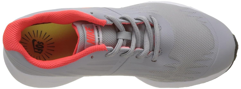 NIKE Boys Star Runner Shoe Wolf Grey//Bright Crimson-Black-White 6.5