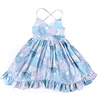 KISSOURBABY Girls Dresses Summer Kids Baby Party Floral Dress 1-10 Years