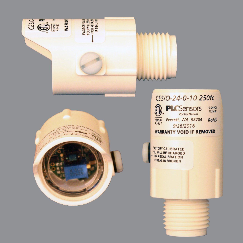 PLC Multipoint CES/O-24-0-10 Outdoor Daylight Harvesting Sensor – 24V, 0 -10 Volt Output Analog Photosensor