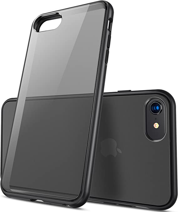 Amazon Com Casekoo Shockproof Iphone Se Case Iphone 8 Case Iphone 7 Case Certified Military Protection Matte Clear Protective Hybrid Rugged Back Soft Edges Anti Scratch Cover For Iphone Se 8 7 6s 6 Black