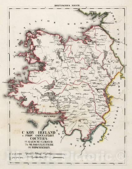 Map Of Ireland 26 Counties.Amazon Com Historic Map V 3 11 15 Xv Britisches Reich C Kon