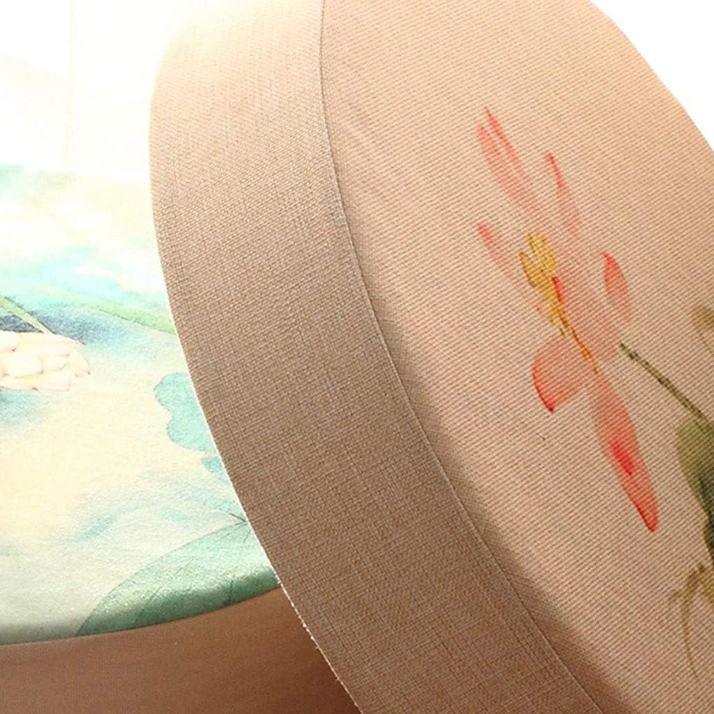 Fundas extra/íbles con Cremallera Di/ámetro 40cm Color : A GTD-Cojines para Exterior Cojines de Silla Tatami Lavables Coj/ín de Asiento Redondo