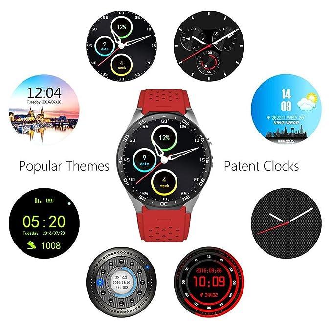 KOBWA Montres Connectées KW88 3G WIFI Smartwatch Phone Tout-en-un Bluetooth Smart Watch avec GPS,caméra, Moniteur de Fréquence Cardiaque, Google Map, ...