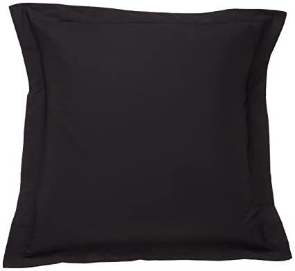 Amazon Com Nj European Square Pillow Shams 28x28 Set Of 2 Black
