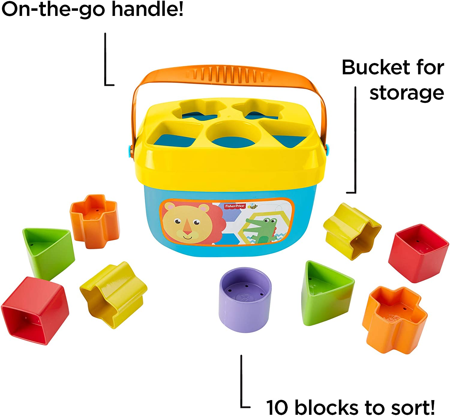 Baby Blocks Sorter Fisher Price Colorful Shaped Skills Improving Educational Toy