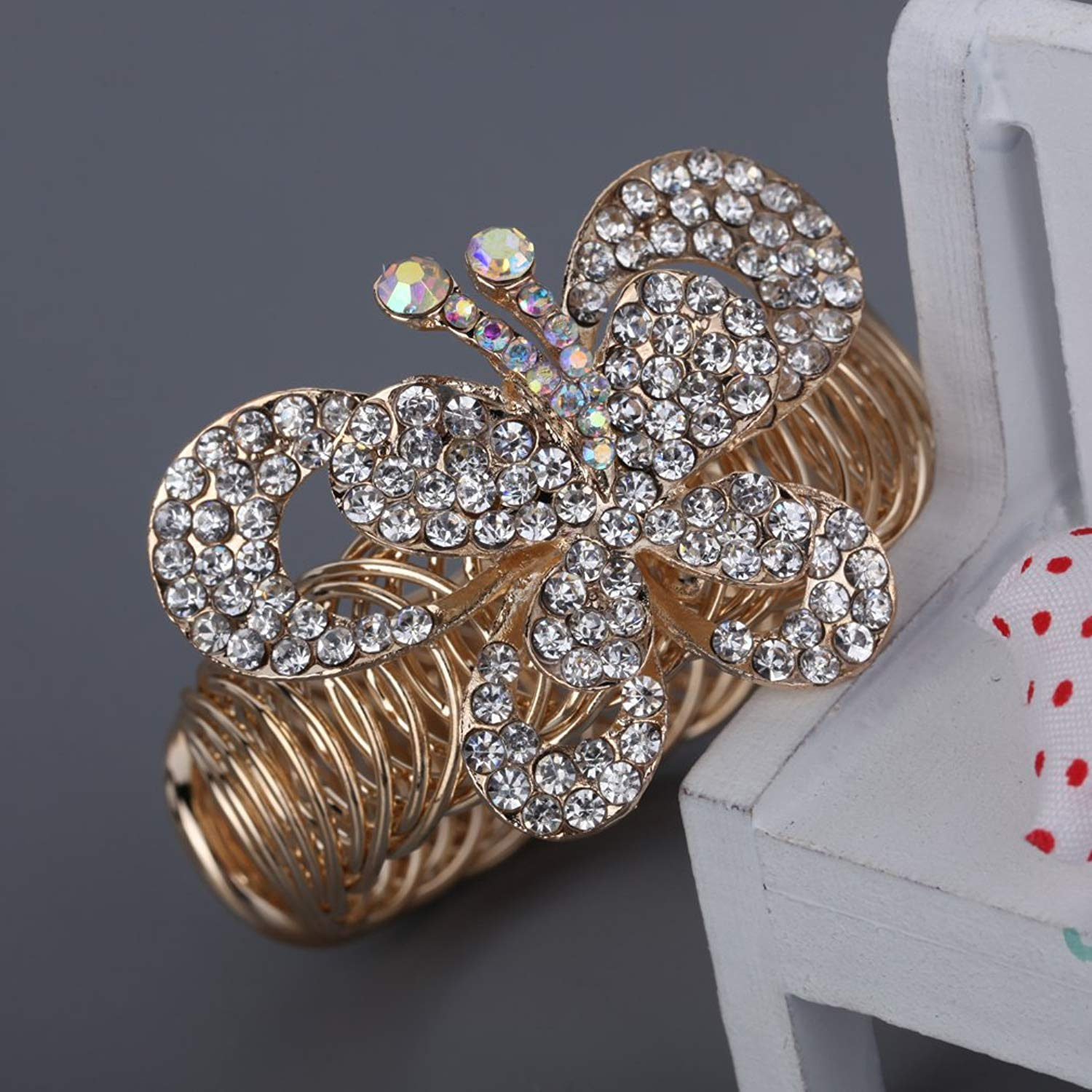DVANIS Gold Plated Crystal Vivid Butterfly Shaple Bracelet Gifts Ideas