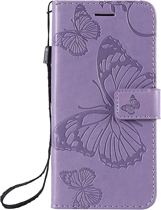 PU Leather Flip Notebook Wallet Case Embossed Lotus Butterfly with Stand Card Holder Slot Folio TPU Bumper Protective Cover for Samsung Galaxy A10 Black Thoankj Samsung Galaxy A10 Phone Case 2019
