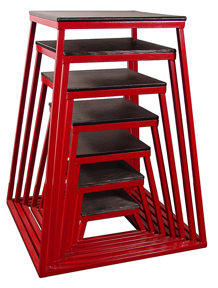 Red Plyometric Platform Box (6''-42'' 7pcs Red)