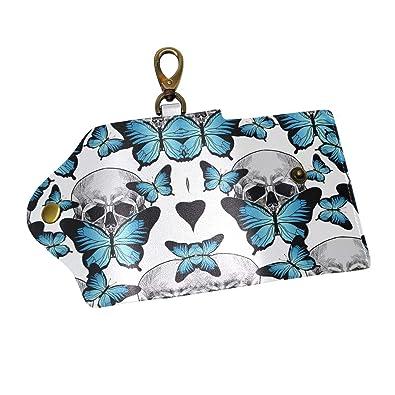 Amazon.com: Butterfly - Funda de piel para llaves, diseño de ...