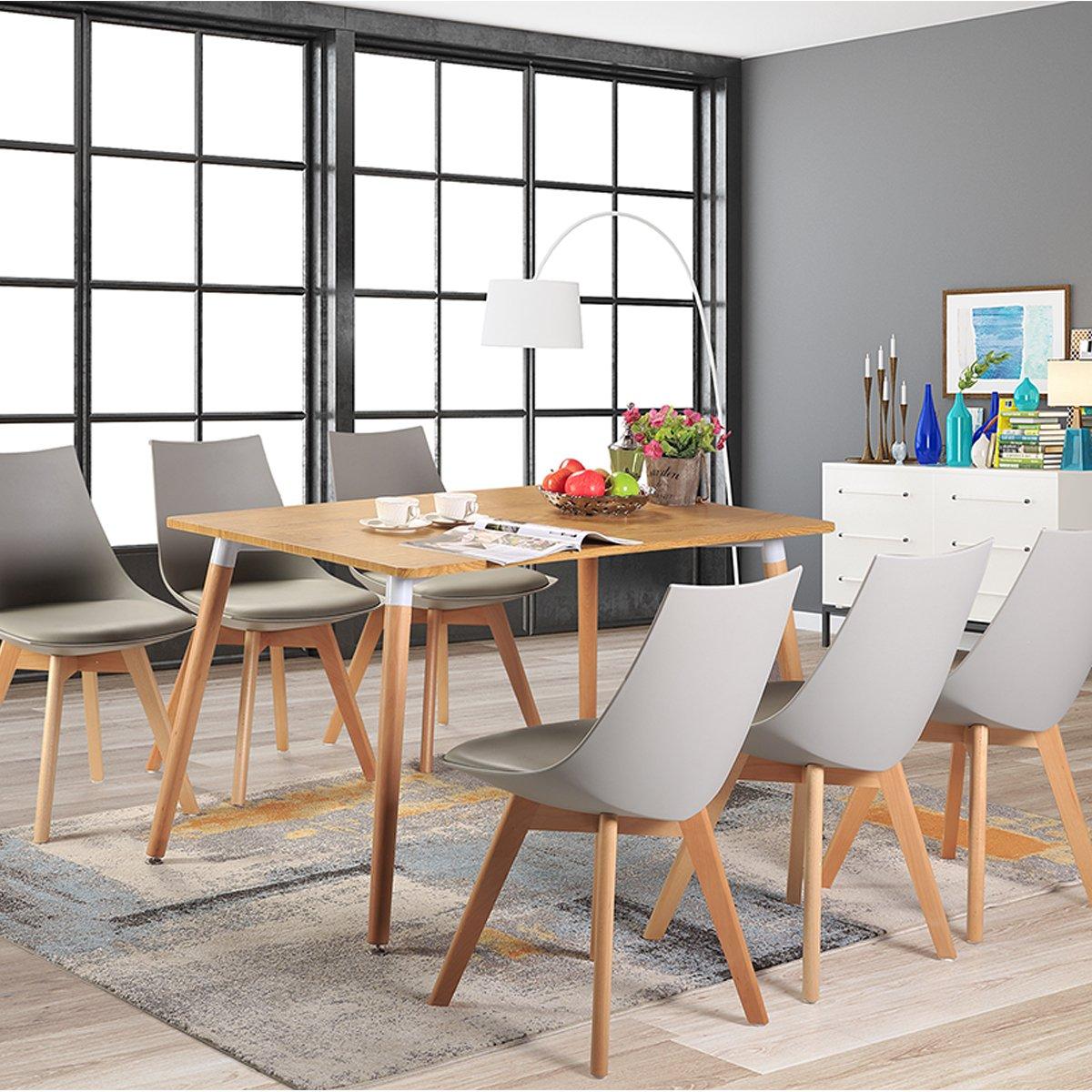 Pack de 2 4 6 diamante comedor silla de oficina con las for Sillas de oficina de madera