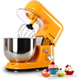 Klarstein Bella Orangina • Robot de cuisine • Mélangeur • Pétrin • max. 1200 W • Vitesse réglable à 6 niveaux • 5,2 L • Système de malaxation d'agitation planétaire • Serrage rapide • Orange