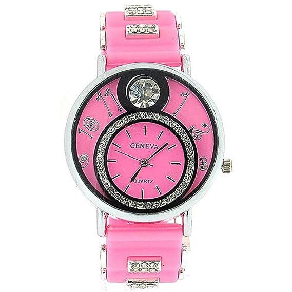Geneva GE0637 baby pink - Reloj, correa de silicona color rosa