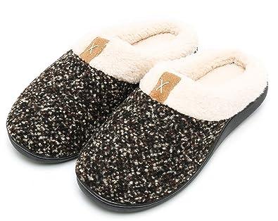 7ac4bfa80f8 Caissip Women s Cozy Memory Foam Slippers Fuzzy Wool-Like Plush Fleece  Lined House Shoes w