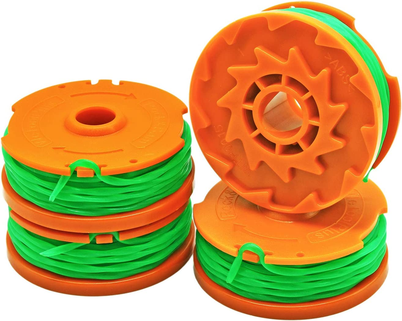 Garden NINJA 10ft Trimmer/Edger Spool Compatible with Worx WA0014, 4-Pack