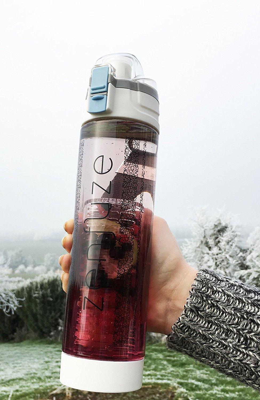 actualizado zenfuze Premium dise/ño de botella de agua con infusor de frutas
