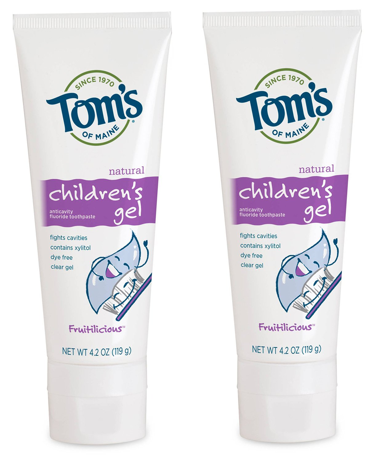 Tom's of Maine Natural Children's Toothpaste Fruitilicious Flavor (Pack of 2)