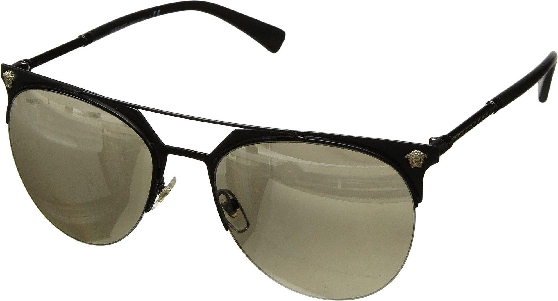 Versace Men VE2181 57 Black Matte/Gold Sunglasses 57mm
