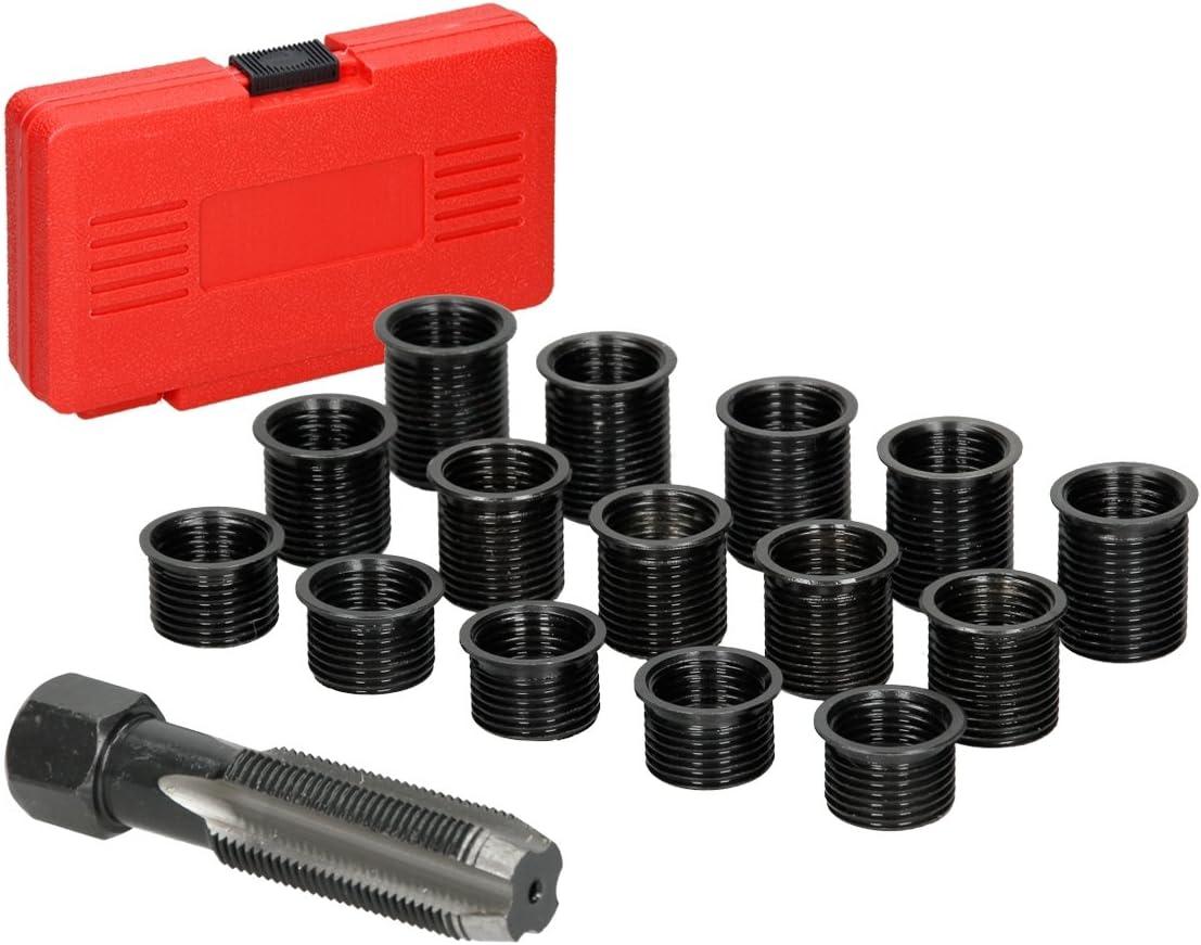 2pc Zündkerze Innen Gewindereparatur Restorer Verlängerung Ratsche 12 /&14mm