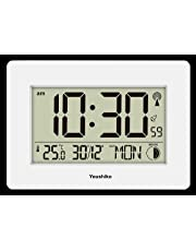 Youshiko Radio Controlled LCD Wall Mountable and Desk Silent Clock (UK & Ireland Version) Jumbo LCD