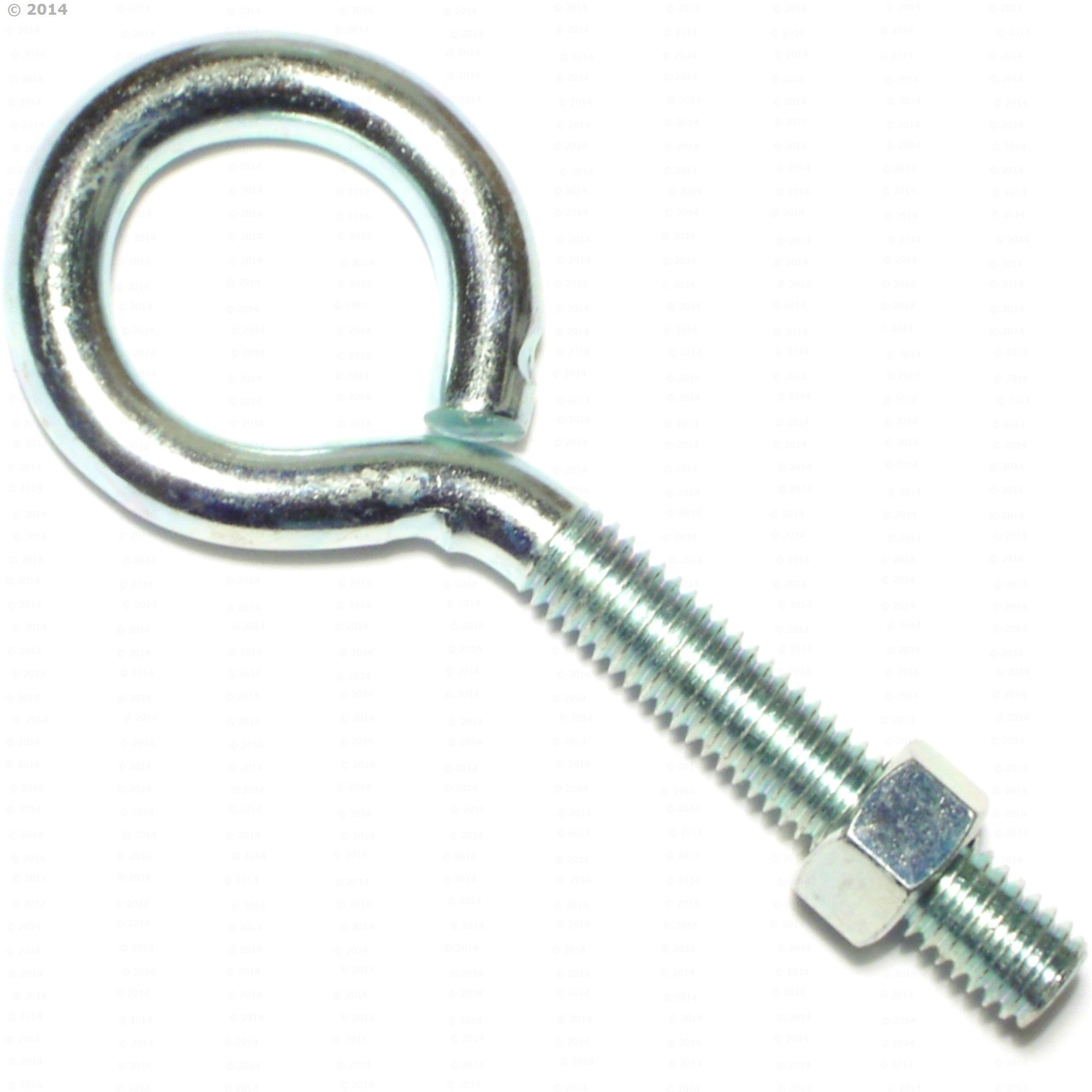 Hard-to-Find Fastener 014973239930 Eye Bolts with Nuts, 3/8-16 x 4, Piece-5