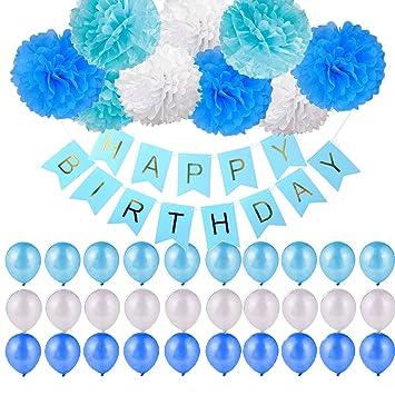 Ayam 40 Stuck Geburtstag Dekoration Kindergeburtstag Deko Ballons
