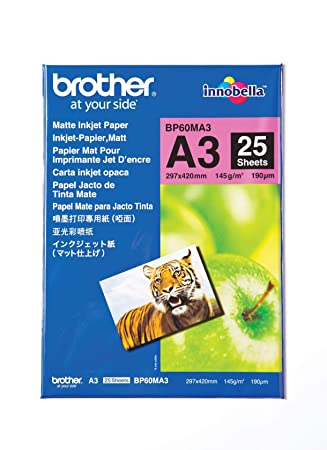 Amazon.com: Brother 25 hojas A3 Mate, bp60ma3: Camera & Photo