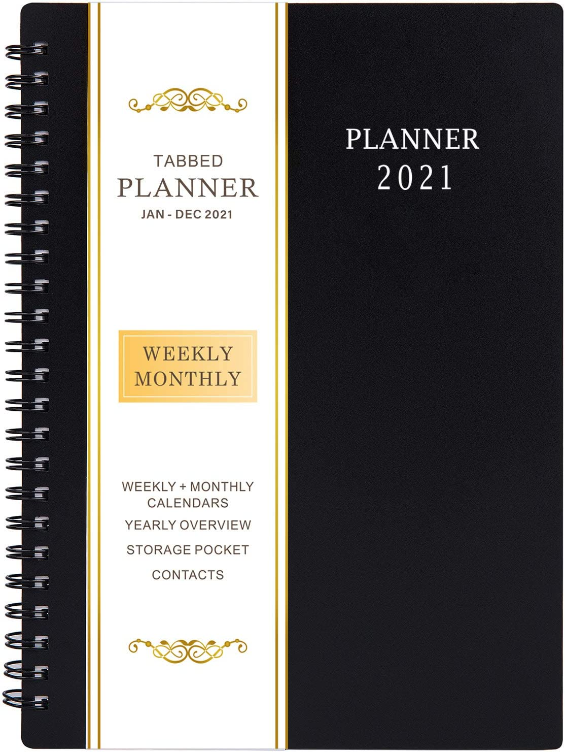 2021 Planner - Weekly & Monthly Planner with Flexible Cover, Jan.- Dec, Strong Twin - Wire Binding, Round Corner,Improving Your Time Management Skill: Office Products