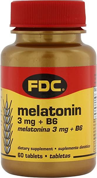 Amazon.com: Melatonin - 3 mg plus B6 - 60 Tablets: Health & Personal ...