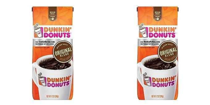 Amazon Com Dunkin Donuts Original Blend Medium Roast Ground Coffee 12 Ounces 2 Pack Grocery Gourmet Food