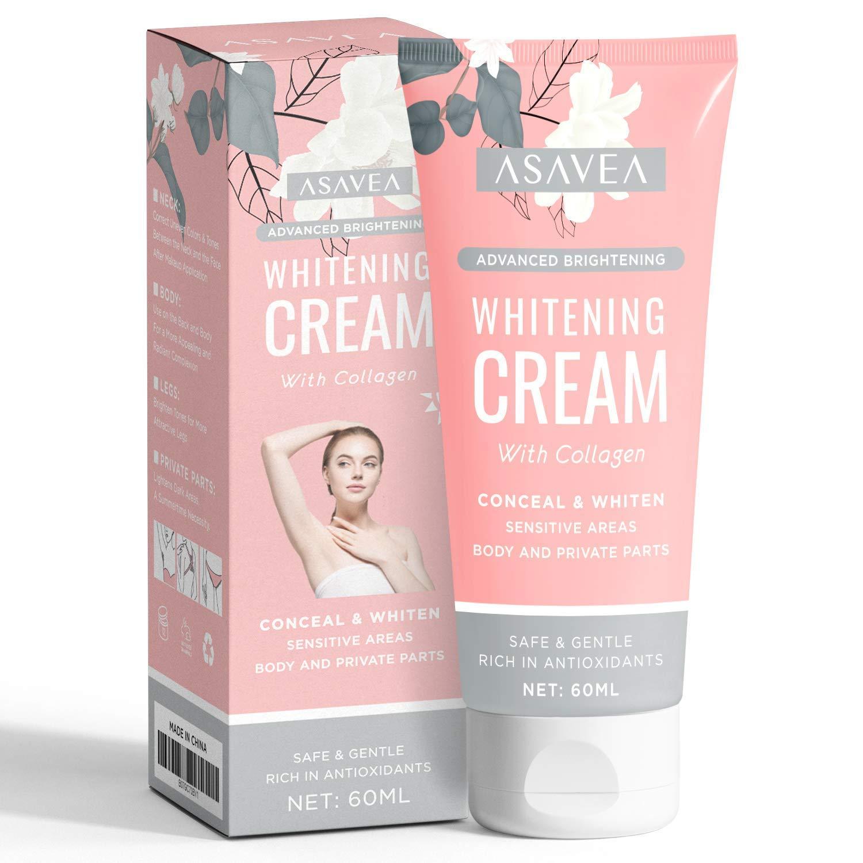 Lightening Cream, Underarm Whitening Cream Effective for Armpit, Knees, Elbows, Sensitive & Private Areas, Whitens, Nourishes, Repairs & Restores Skin by AsaVea