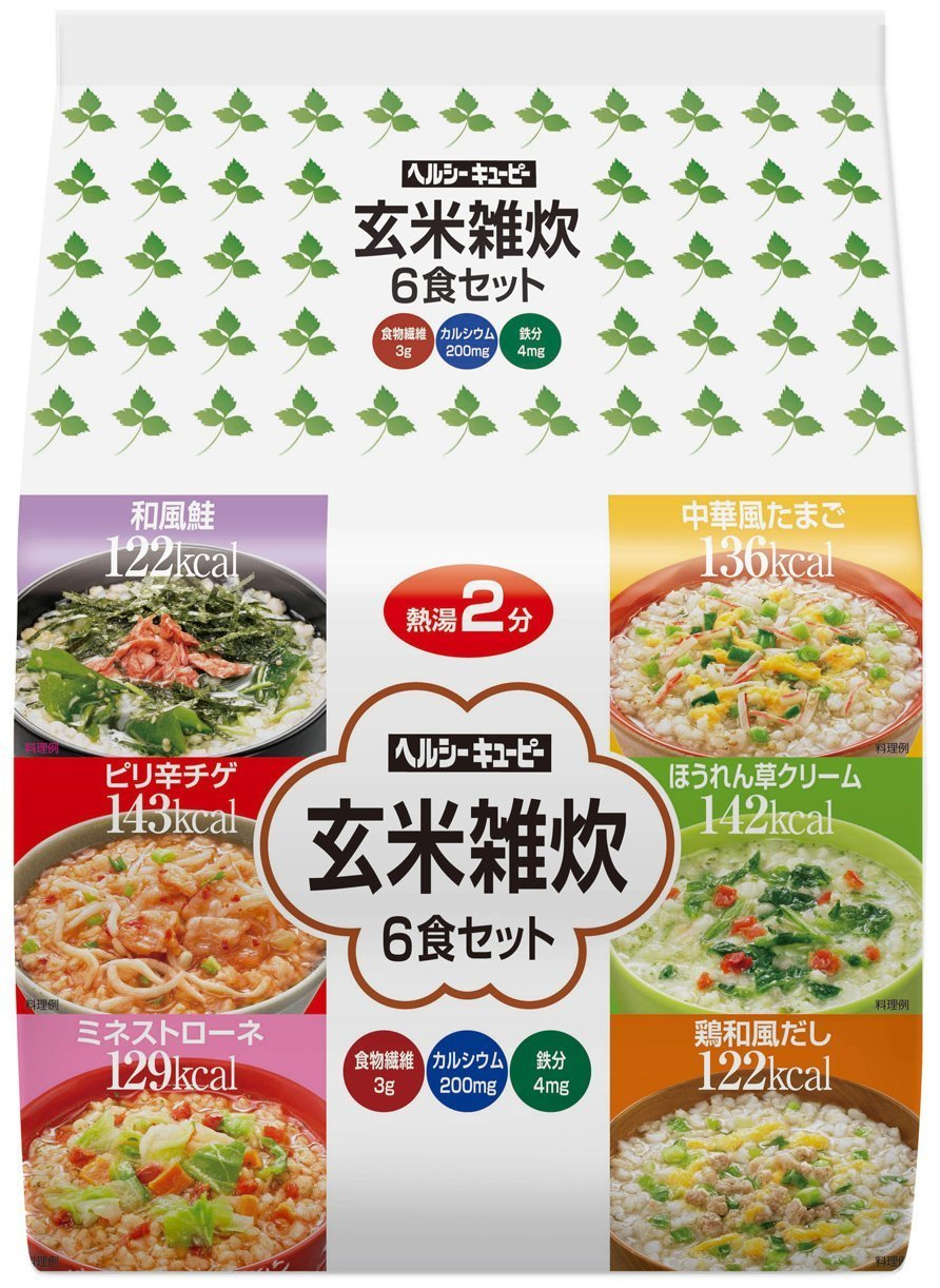 Healthy kewpi. Brown rice risotto 6-meal set by Kewpie Mayonnaise