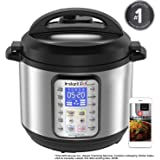 Instant Pot Smart WiFi 6 Quart Multi-use Electric Pressure, Slow, Rice Cooker, Yogurt, Cake Maker, Sauté, Steamer and Warmer, Silver (Renewed)