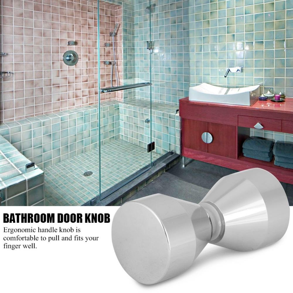 Duscht/üren Knopf Duscht/ür Handle Knob Duscht/ürknopf T/ürknaufgarnitur f/ür Home Badezimmer Dusche Glast/ür Pull Knob Aluminiumlegierung Griff #3