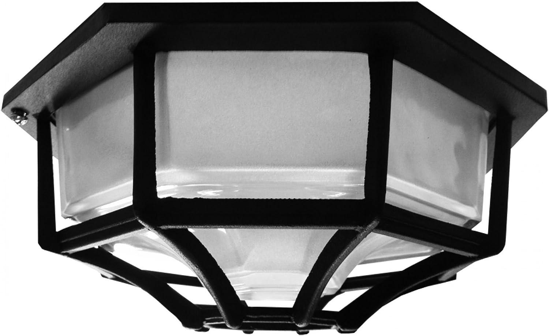 pared o techo Searchlight 2942BK Plaf/ón hexagonal porche IP44 color negro para exteriores