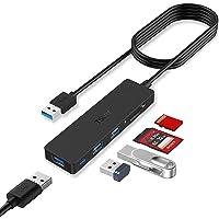 TSUPY Hub USB 3.0 con Cable de 1,2m Ladrón USB 3.0 3 Puertos e 5Gbps Lector de Tarjetas SD/TF Adaptador USB 3.0 para PC…