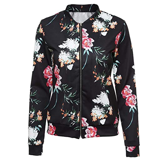318b4fd4914 Chiced Ethnic Style Floral Printed Bomber Jacket Women Basic Coats Autumn  Ladies Outerwear Vintage Jackets Fashion