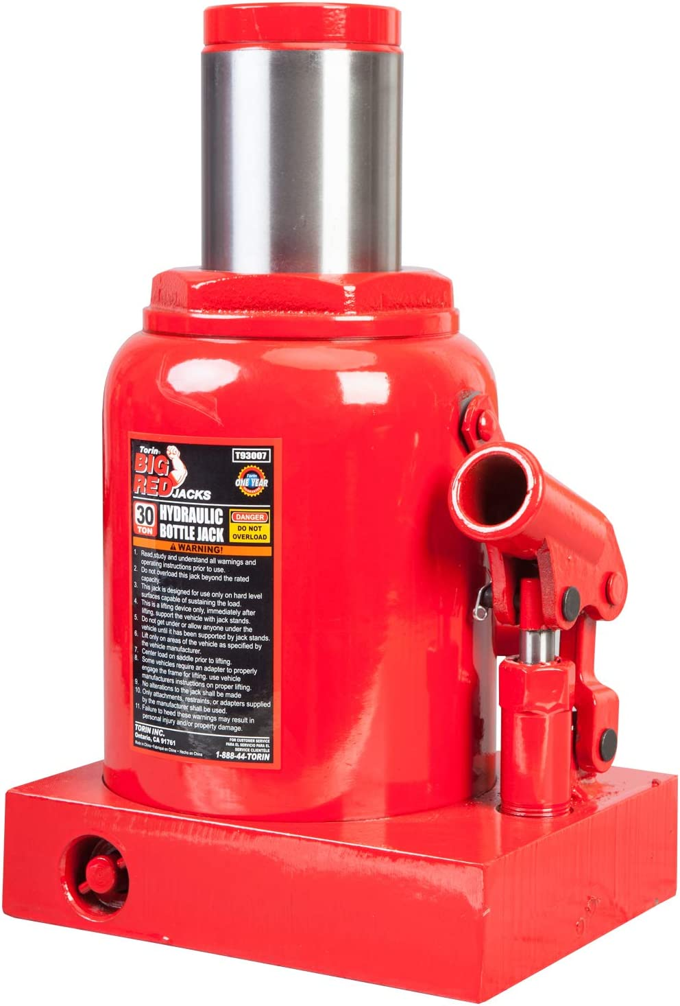 Capacity Red 4,000 lb 2 Ton BIG RED T90203B Torin Hydraulic Welded Bottle Jack