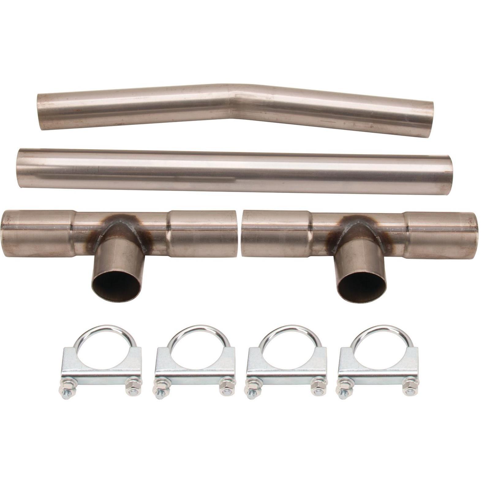 Universal Dual Exhaust H-Pipe Balance Tube Kit, 2-1/4 Inch