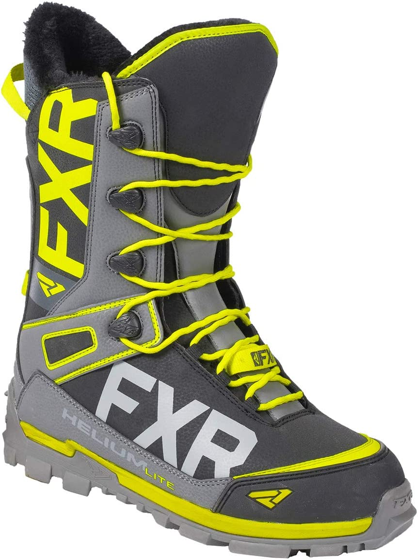 New 2020 FXR Mens HELIUM LITE BOA Snowmobile BOOT Black//Charcoal//Orange//Hi-vis