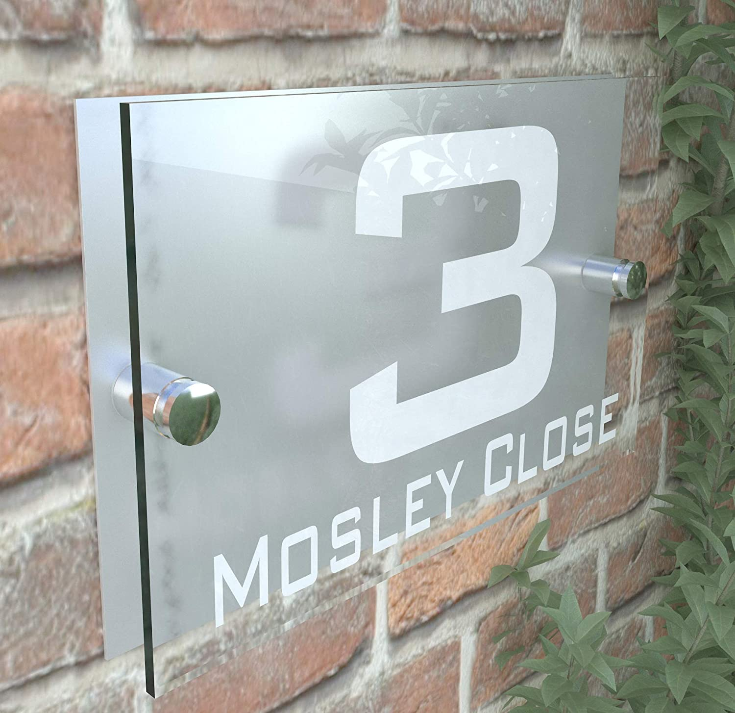 Modern Perspex Steel Aluminium Perspex Acrylic House Number Wall Plaque Sign K Smart Sign Ltd