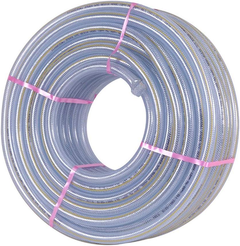 ホース ガーデンホース透明なPVCパイプ直径10MM / 12MM高圧防爆水道管 (Color : 10MM, Size : 50M(164FT))