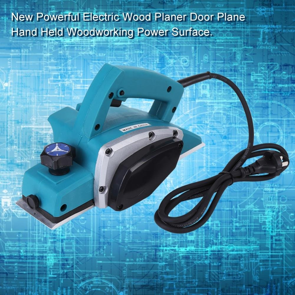 Electric Wood Hand Planer,110V Electric Wood Planer Door Plane Hand Held With 3-1/4 planer Woodworking Hand Surface by GOTOTOP (Image #4)