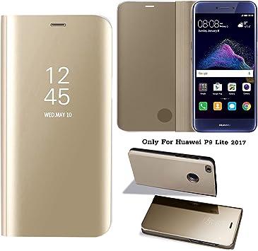 Guran® Mirror Efecto Espejo Funda para Huawei P9 Lite 2017 Clear ...