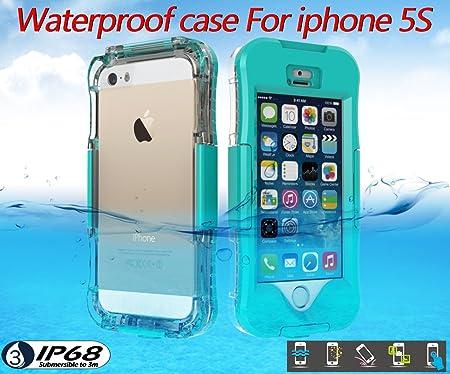iPhone 5SE 5S 5 Funda, Moonmini® Impermeable Waterproof Sumergible Protectora Bumper Hard Carcasa para Apple iPhone 5SE 5S 5 - Verde